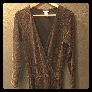 Las Vegas H&M's black and gold metallic jumpsuit